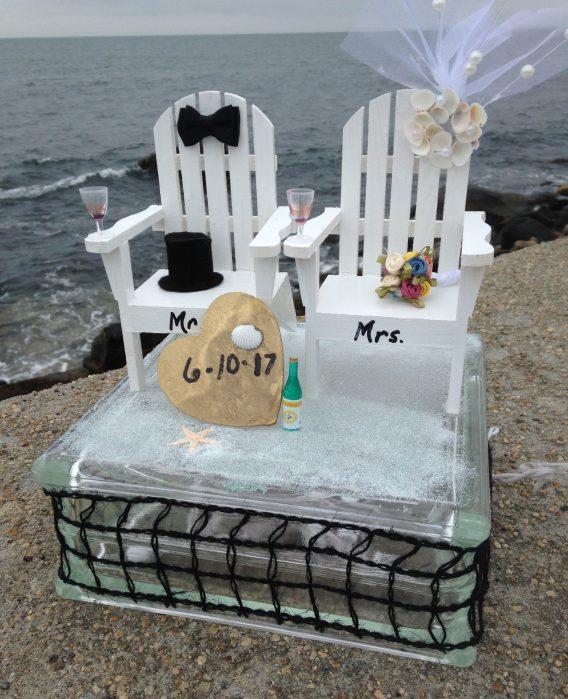Bride & Groom Lighted Cube