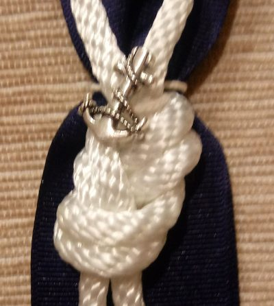Nautical Knot Boutonniere With Charm