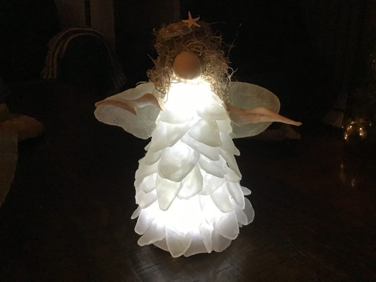 Seaglass Angel - 7 or 10 inches tall