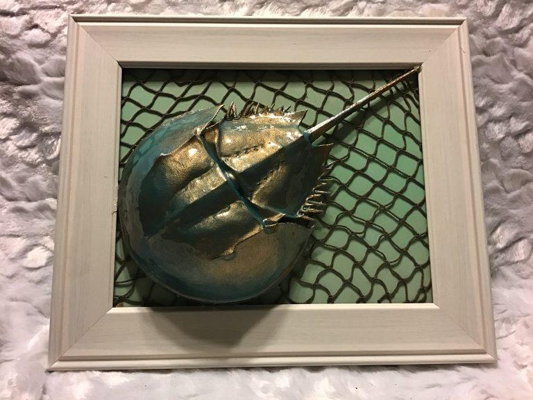 Framed Resin Horseshoe Crab